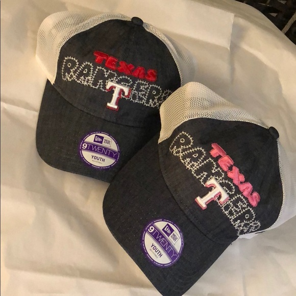 2b6aec53aba489 New Era Accessories | Set Of Kids Caps Texas Rangers | Poshmark